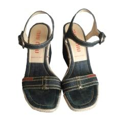 Sandales compensées Miu Miu  pas cher