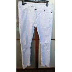 Pantalon slim, cigarette School Rag  pas cher