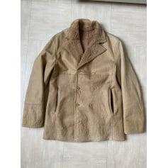 Leather Coat Versace