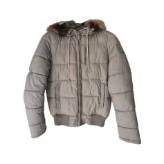 Manteau femme laine uni mohair alpaga et polyester Sugar