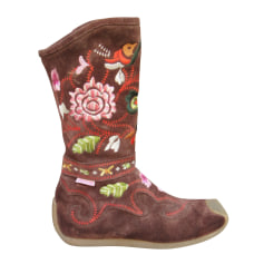 Bottines & low boots plates Roberto Cavalli  pas cher