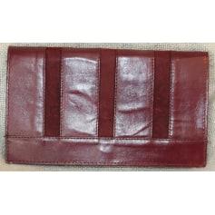 Sac pochette en cuir 100% Vintage  pas cher