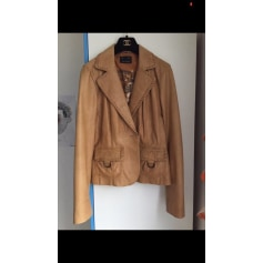 Veste en Cuir pour Homme Manteau Manteau Brown Skipper