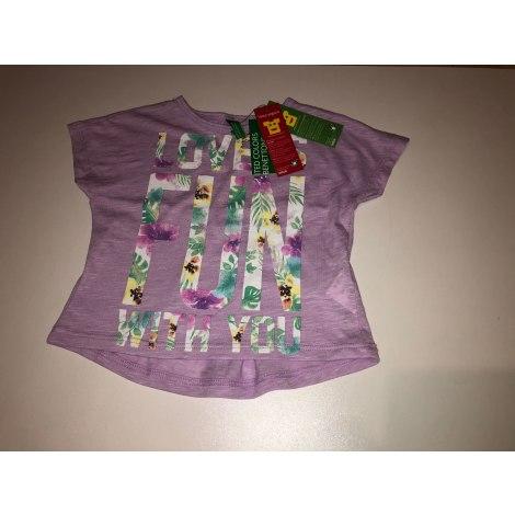 Top, tee shirt UNITED COLORS OF BENETTON Violet, mauve, lavande