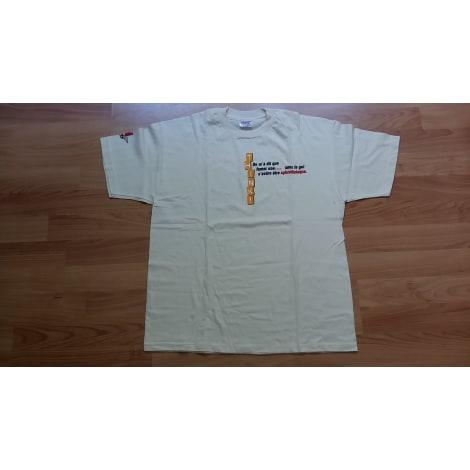 Tee-shirt HANES Blanc, blanc cassé, écru