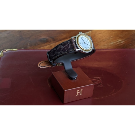 Montre au poignet HERMÈS Clipper Doré, bronze, cuivre