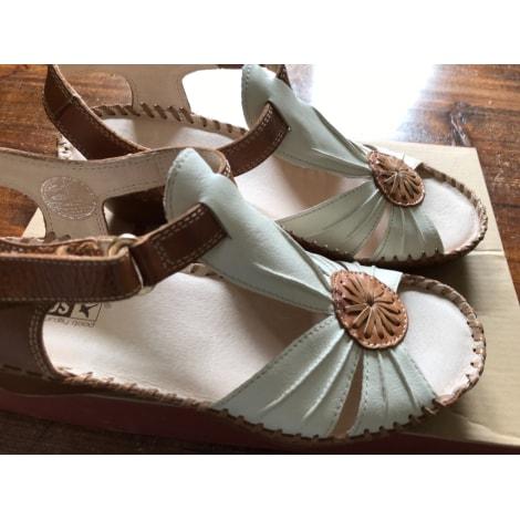Sandales compensées PIKOLINOS Beige, camel