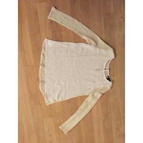 Chemise MANGO Blanc et dorée