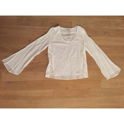 Chemise MANGO Blanc, blanc cassé, écru