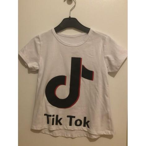 Top, Tee-shirt TIKTOK Blanc, blanc cassé, écru