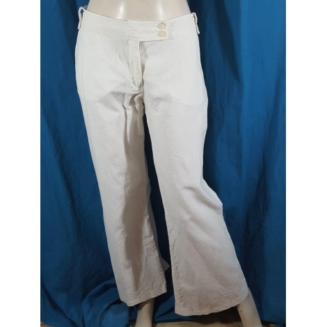 Pantalon droit NAF NAF Blanc, blanc cassé, écru