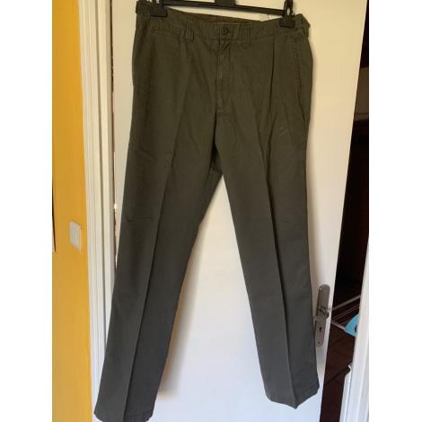 Pantalon droit ZARA Kaki