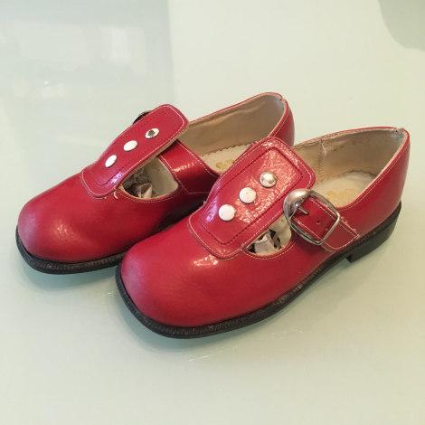 Chaussures à boucle VINTAGE Rouge, bordeaux