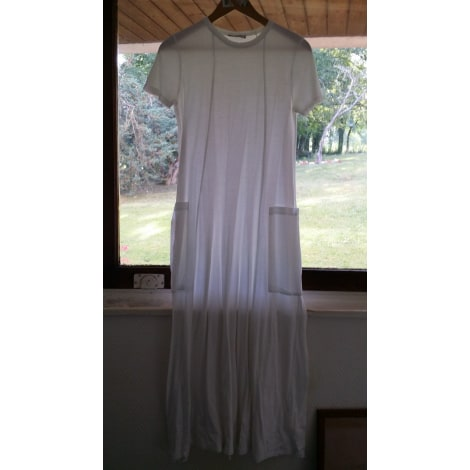 Robe longue ZARA Blanc, blanc cassé, écru