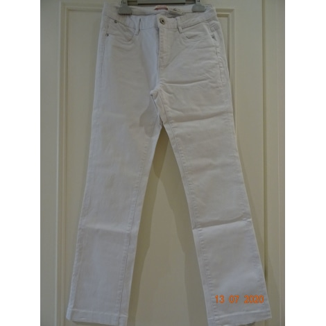Jeans droit CAMAIEU Blanc, blanc cassé, écru