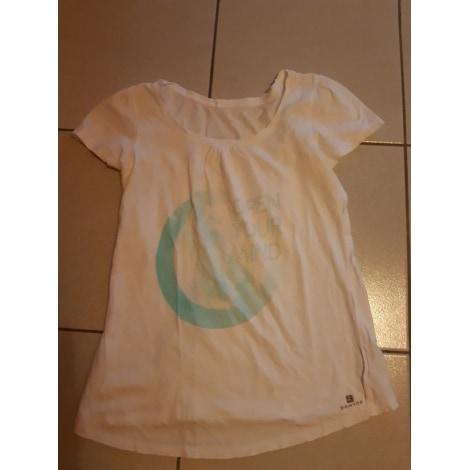 Top, tee-shirt DOMYOS Blanc, blanc cassé, écru