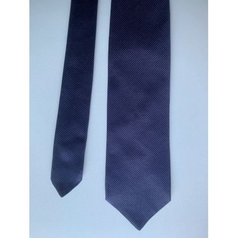 Tie CURLING Blue, navy, turquoise