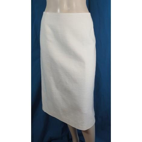 Jupe mi-longue WEINBERG Blanc, blanc cassé, écru