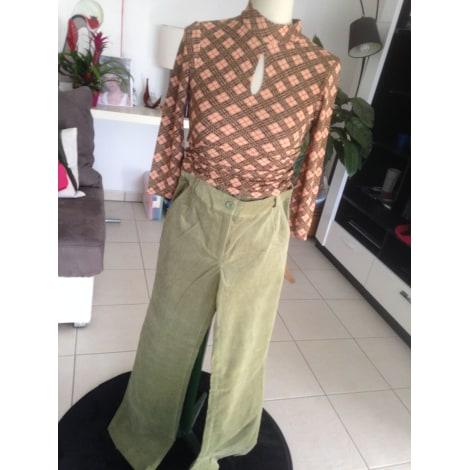 Pantalon évasé HELLINE Vert
