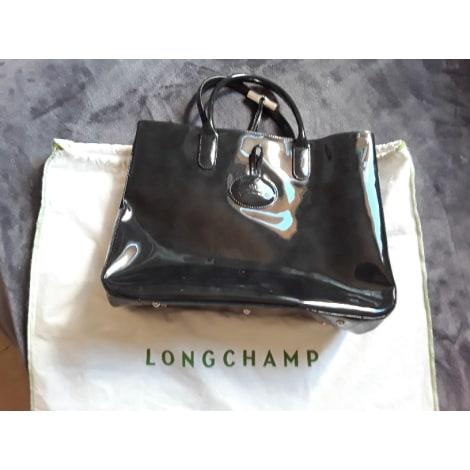 Sac à main en cuir LONGCHAMP Roseau Noir