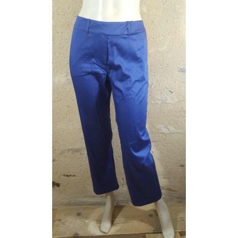 Pantalon droit ALAIN MANOUKIAN Bleu, bleu marine, bleu turquoise