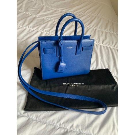 Sac en bandoulière en cuir YVES SAINT LAURENT Sac de Jour Bleu, bleu marine, bleu turquoise