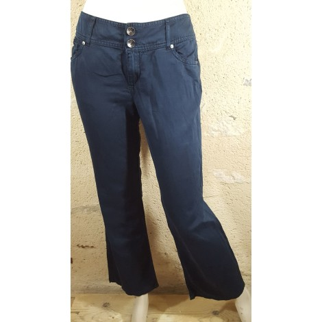 Pantalon droit DDP Bleu, bleu marine, bleu turquoise