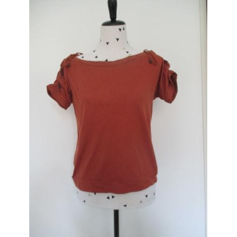 Top, tee-shirt COMPTOIR DES COTONNIERS Doré, bronze, cuivre