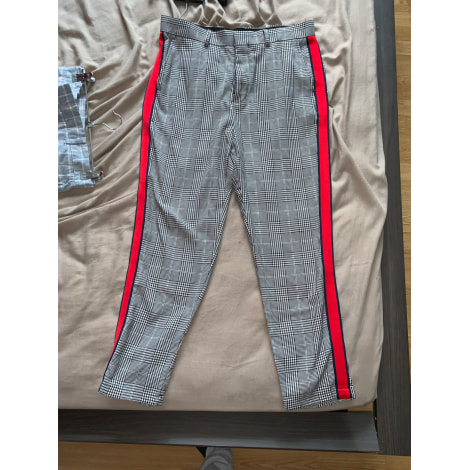 Pantalon slim BERSHKA Gris, anthracite