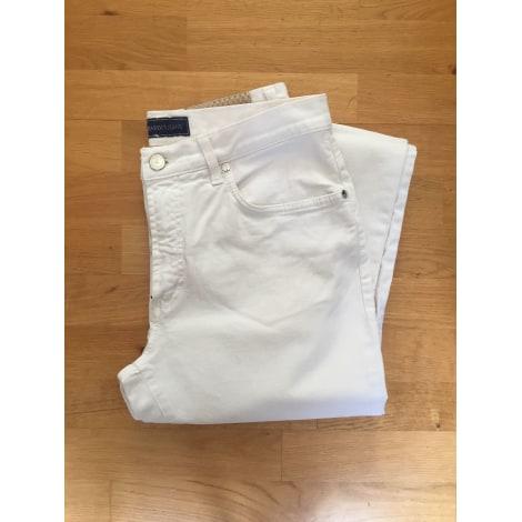 Jeans droit TRUSSARDI JEANS Blanc, blanc cassé, écru