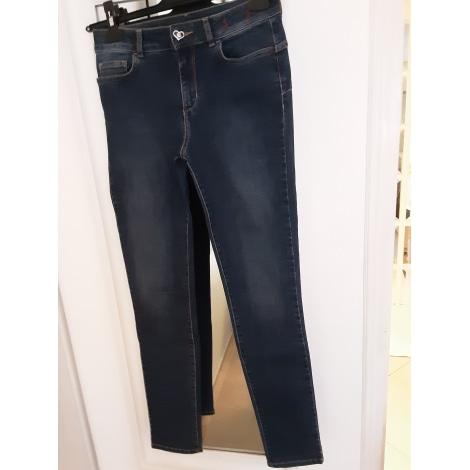 Jeans slim TWIN-SET SIMONA BARBIERI Bleu, bleu marine, bleu turquoise