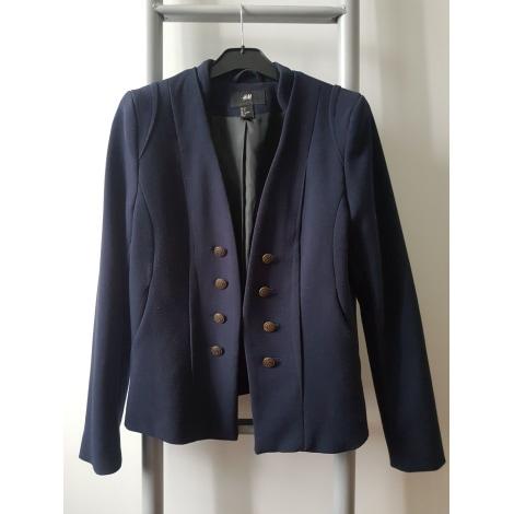 Blazer, veste tailleur H&M Bleu, bleu marine, bleu turquoise