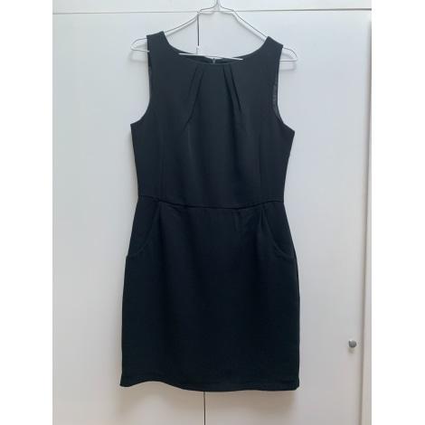 Robe mi-longue LAURA CLÉMENT Noir