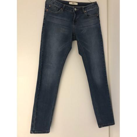 Jeans slim MKT Bleu, bleu marine, bleu turquoise