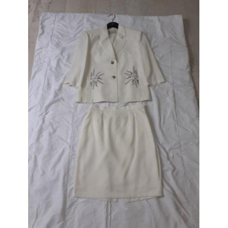Tailleur jupe JUMFIL Blanc, blanc cassé, écru