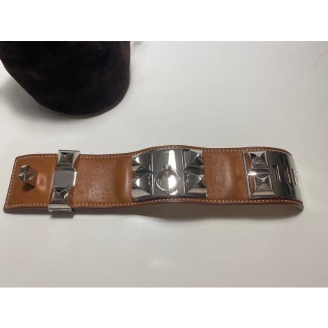 Bracelet HERMÈS Collier de Chien Beige, camel