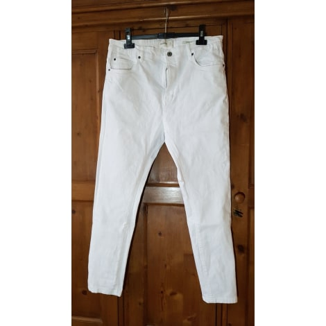 Jeans droit PULL & BEAR Blanc, blanc cassé, écru