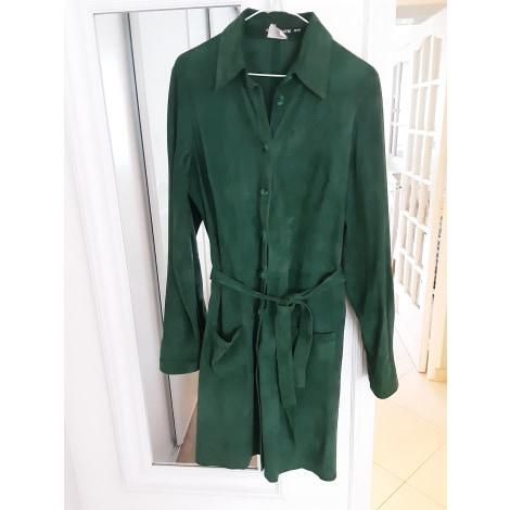 Manteau en cuir ANTIK BATIK Vert