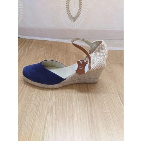 Sandales compensées LA HALLE Bleu, bleu marine, bleu turquoise