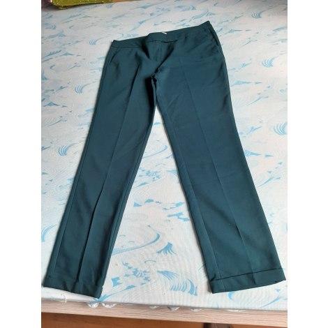 Pantalon slim, cigarette CAMAIEU Vert