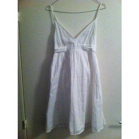 Robe courte MARQUE INCONNUE Blanc, blanc cassé, écru