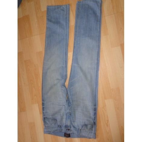 Jeans droit PULL & BEAR Bleu, bleu marine, bleu turquoise
