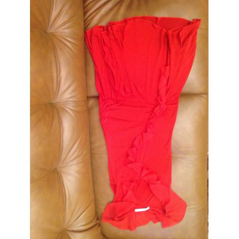 Robe mi-longue UNGARO FUSHIA Rouge, bordeaux