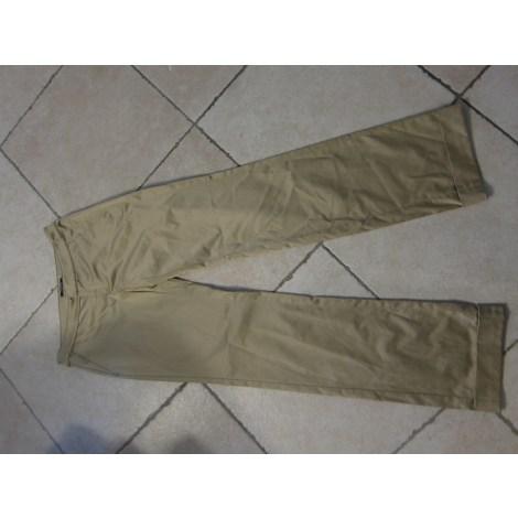 Pantalon droit VERSACE Doré, bronze, cuivre