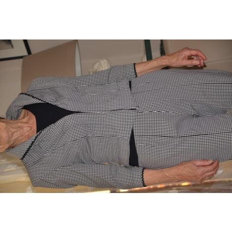 Tailleur pantalon PSY carreaux vichy noirs et blancs