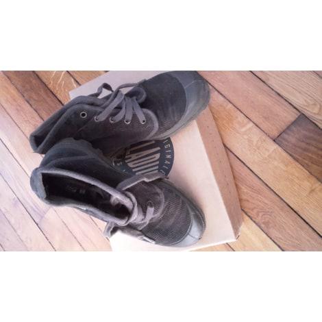 Bottines & low boots plates PALLADIUM Vert