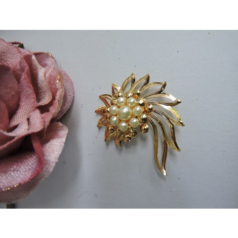 Broche FANTAISIE Doré, bronze, cuivre