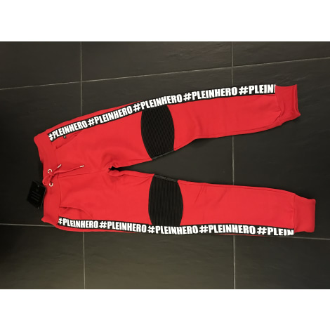 Pantalon de survêtement PHILIPP PLEIN Rouge, bordeaux