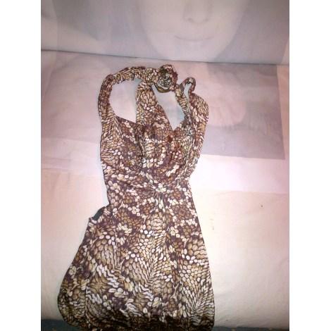 Robe mi-longue JUST CAVALLI Doré, bronze, cuivre