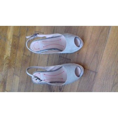 Sandales compensées ANN TUIL Sable